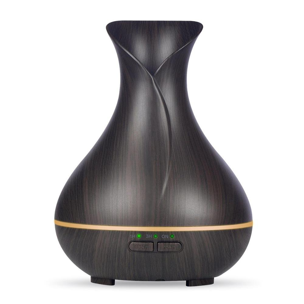 Essential Oil Diffusers Aroma Diffusers Scented Oil diffusers Ultrasonic Humidifier Cool Mist Humidifier Air Purifier 300ML Whisper Quiet Classic Wood Grain (Dark wood) AYD
