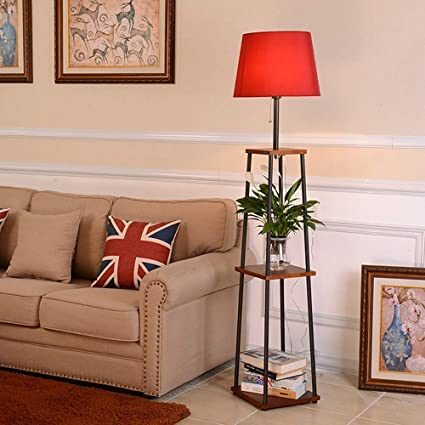 Amazon Com Modern Solid Floor Lamp With Shelves 2 Tier