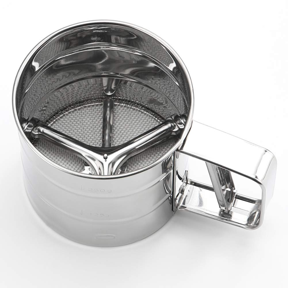 TaoNaisi Sifter Stainless Steel Flour Smooth Sieve mesh for Fruit Flour Vegetables Cleaning Sieve Necessary Kitchen Tools
