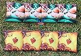 Victory Tailgate Custom Poker Hand Cornhole Bag Set (corn Filled)