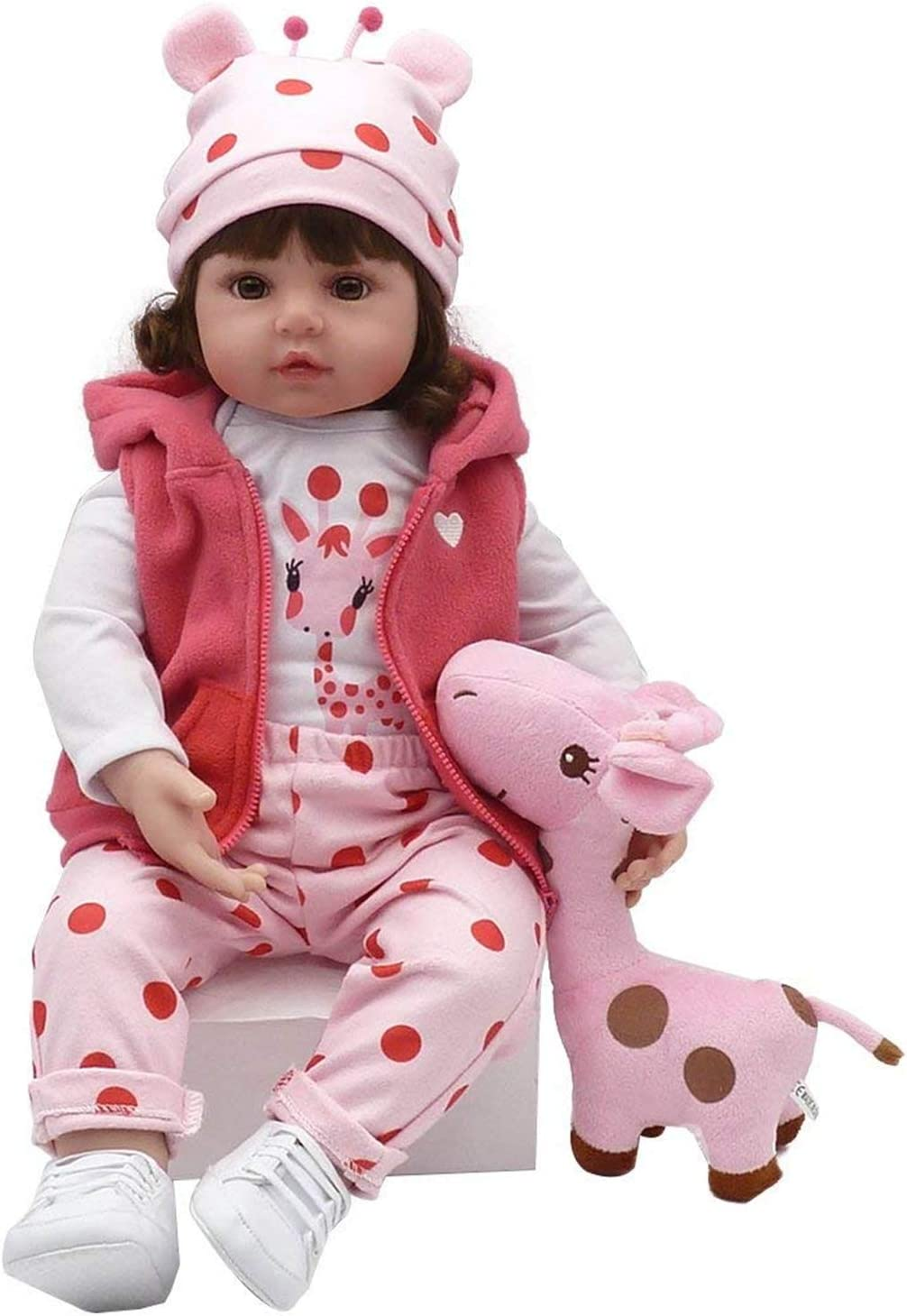 Giraffe Set Zero Pam Reborn Baby Dolls Accessories Ideal Outfit Set for 22 inch Baby Reborn Girl with Toys and Pacifier