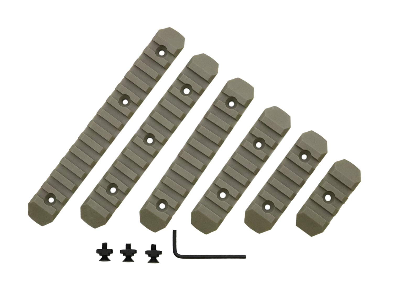 BEGADI M-LOK Polymer Rail Set TAN 6teilig f/ür Airsoft//Softair