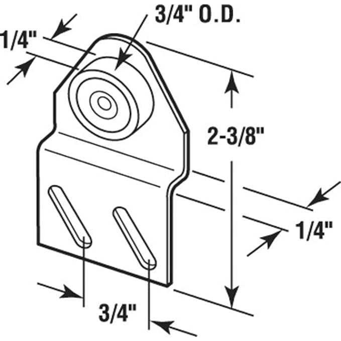 4 Flat Edge Nylon B B Sliding Shower Door Roller Assembly