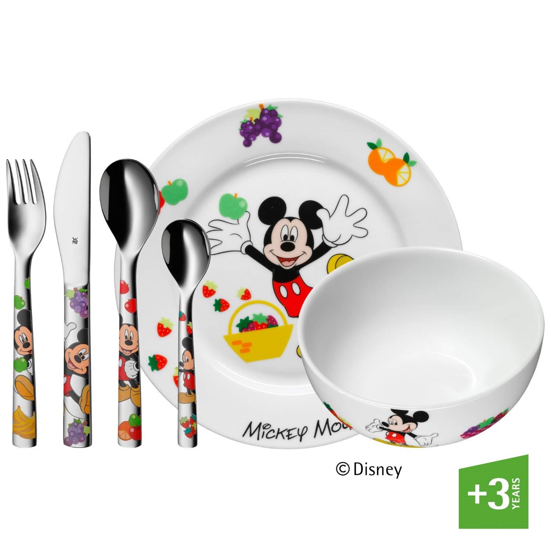 WMF Disney Mickey Mouse - Vajilla para niños 6 piezas, incluye plato, cuenco y cubertería (tenedor, cuchillo de mesa, cuchara y cuchara pequeña) (WMF Kids infantil) product image