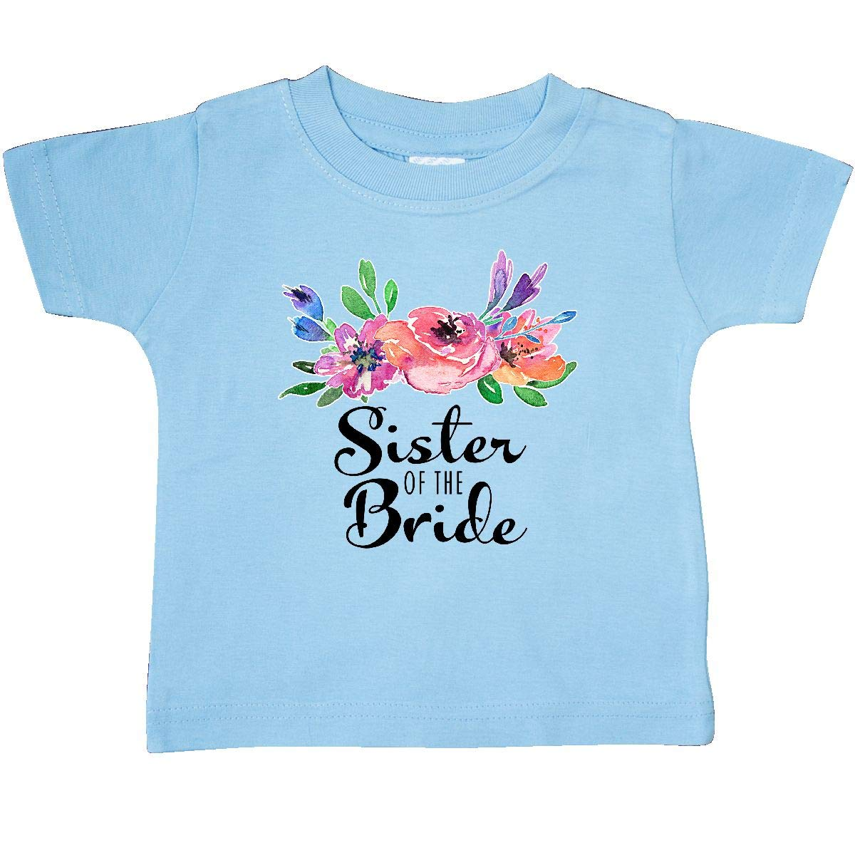 inktastic Sister of The Bride with Bouquet Baby T-Shirt