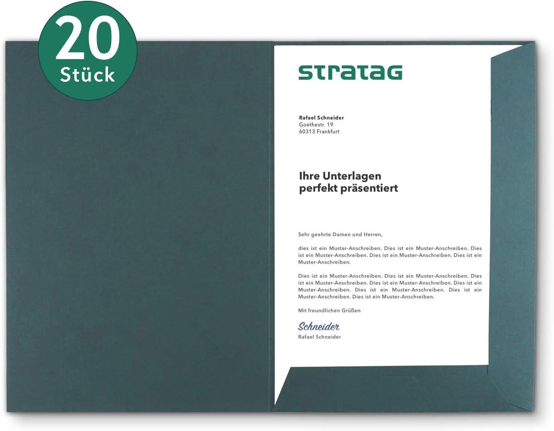 - erh/ältlich in 7 Farben direkt vom Hersteller STRATAG Projekte oder Gesch/äftsberichte Pr/äsentationsmappe A4 in Tannengr/ün 5 St/ück vielseitig einsetzbar f/ür Ihre Angebote w/ählbar Expos/és