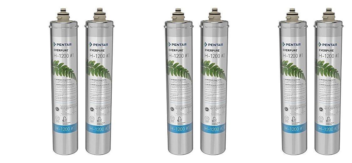 Everpure H-1200 Water Filter Replacement Cartridge Set (EV9282-01) (3 Pairs)