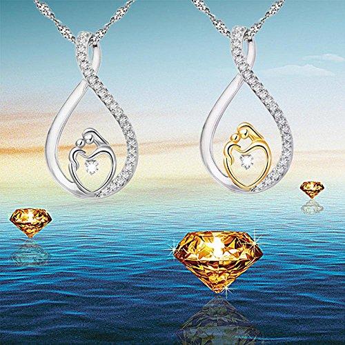 Fittingran di Silver offerte catena Natale festa gioielli Liquidazione zircone placcato Argento mamma della regalo H5gdPw