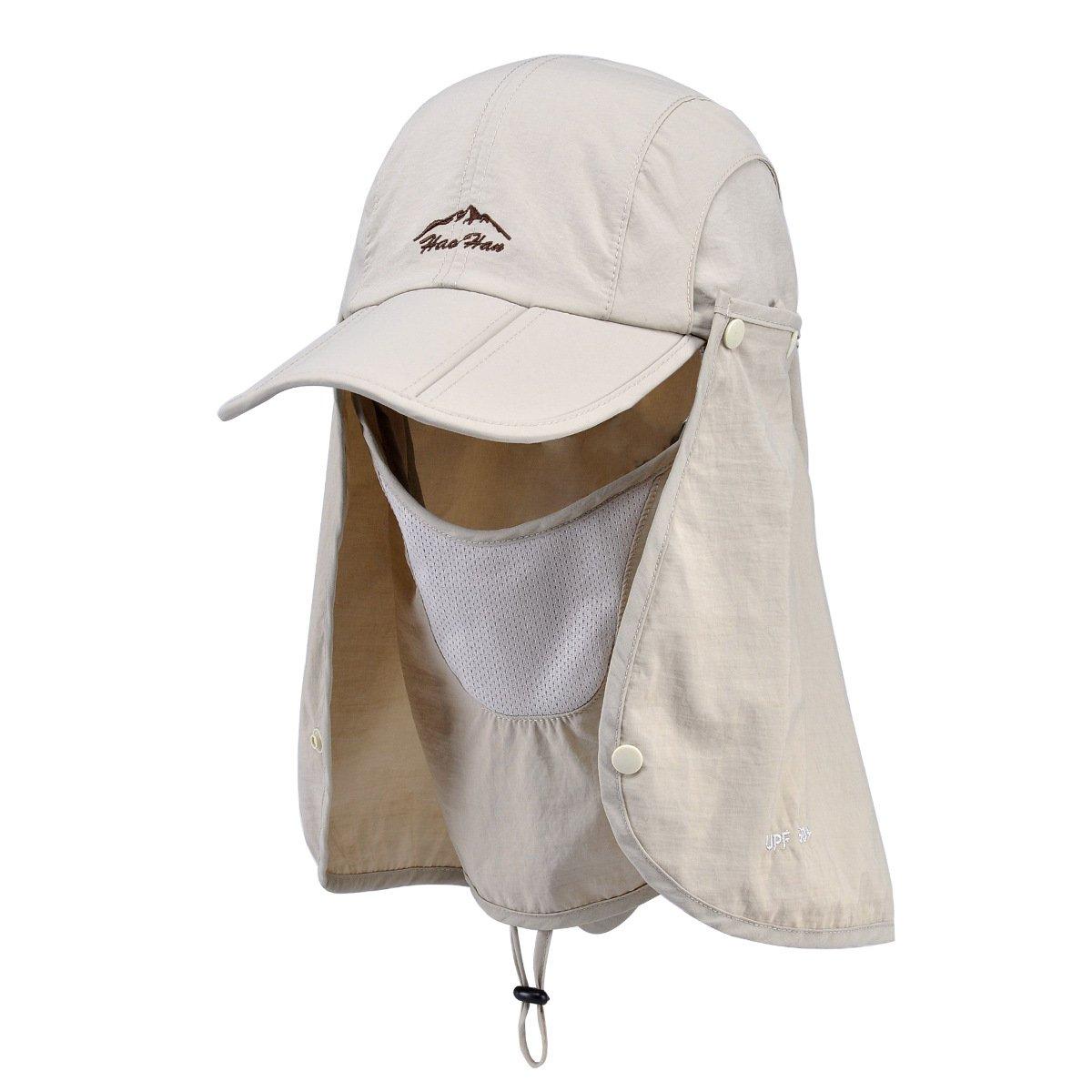 Belsen UPF 50+ Summer Hat Neck Protection Flap Cap (Khaki) by Belsen