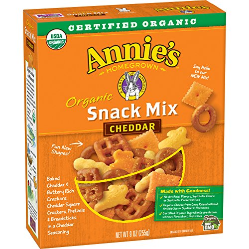 Annie's Organic Cheddar Snack Mix, Baked Cheese Crackers and Pretzels, 9 oz Box (Pack of - Snack Crackers Bunnies Baked
