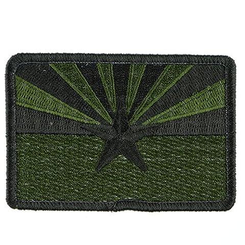 Velcro Patch : Arizona Flag - Olive Drab (Desert Arizona Flag Patch)