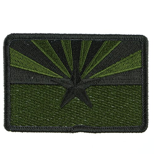 LiZMS Tactical Patch : Arizona State Flag - Olive Drab - Hook and Loop Fasteners