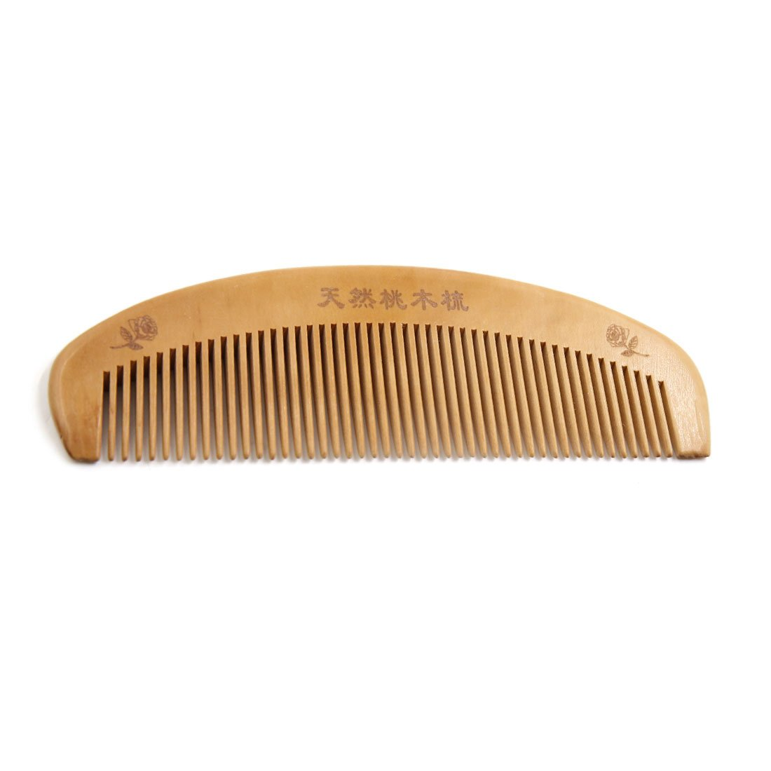 uxcellWooden Fine Tooth Anti-static Portable Beard Hair Beauty Massage Pocket Comb a17042600ux0968