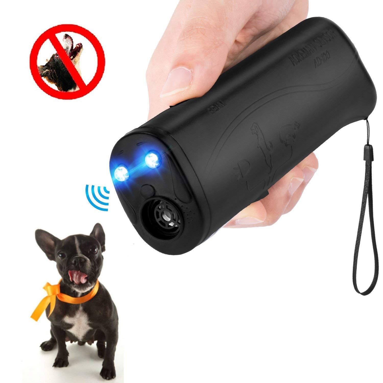 MEIREN Handheld Dog Repellent & Trainer, Anti Barking Device with LED Flashlight, Ultrasonic Dog Deterrent and Bark Stopper + Dog Trainer Device by MEIREN