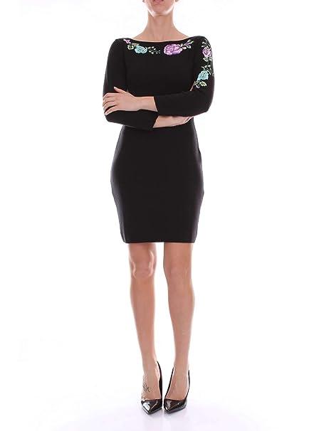 finest selection b96c6 40491 BLUGIRL Vestito Donna 6364BLACK Lana Nero: Amazon.it ...