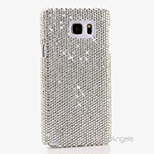 NOTE 5 Case, BlingAngels® Premium Quality Luxury Bling Case Cover Crystals Diamond Sparkle jeweled Pure Clear Design Back Snap-on Hard Case for Samsung NOTE 5 (Authentic Clear Crystals Design)