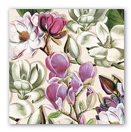 20-Count 3-Ply Paper Luncheon Napkins, Magnolia (Designer Napkins)