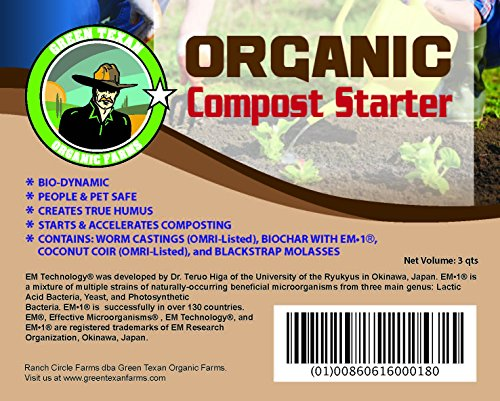 All-Natural Compost Starter (3 Quarts) (Compost Accelerator)