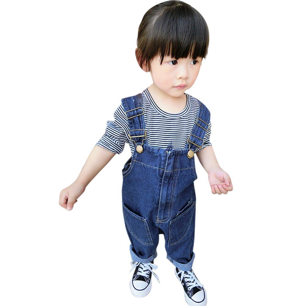 Toddler Baby Dungarees Denim Jeans Bib Overalls Jumpsuit for Boys Girls