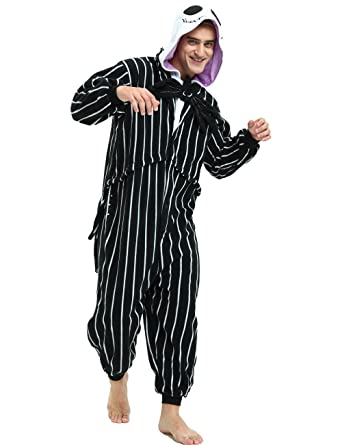 es unico jack skellington onesie pour adultes et adolescents costume de halloween pour femmes et