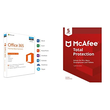 Microsoft Office 365 Home Mcafee Total Protection 5 Geräte Amazon