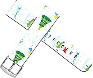 Strap Compatible for Apple Watch Series SE/6/5/4/3/2/1 38mm/40mm Leather - ENDIY Designer Leather Fashionable Band Replacement for Iwatch Xmas Christmas Theme Design Pattern Christmas Tree Snowman