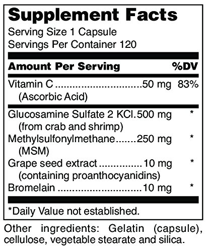 Douglas Laboratories - Glucosamine + MSM Forte - Nutritional Formulation to Support Maintainance and Health of Aging Joints* - 120 Capsules by Douglas Laboratories (Image #1)