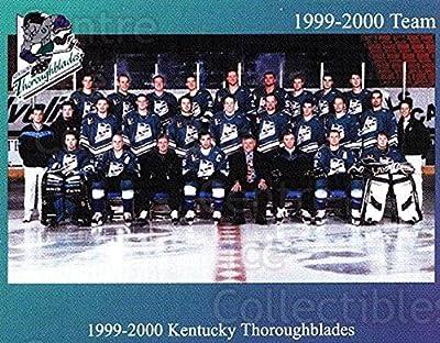 (CI) Kentucky Thoroughblades, Team Photo Hockey Card 1999-00 Kentucky Thoroughblades 1 Kentucky Thoroughblades, Team Photo