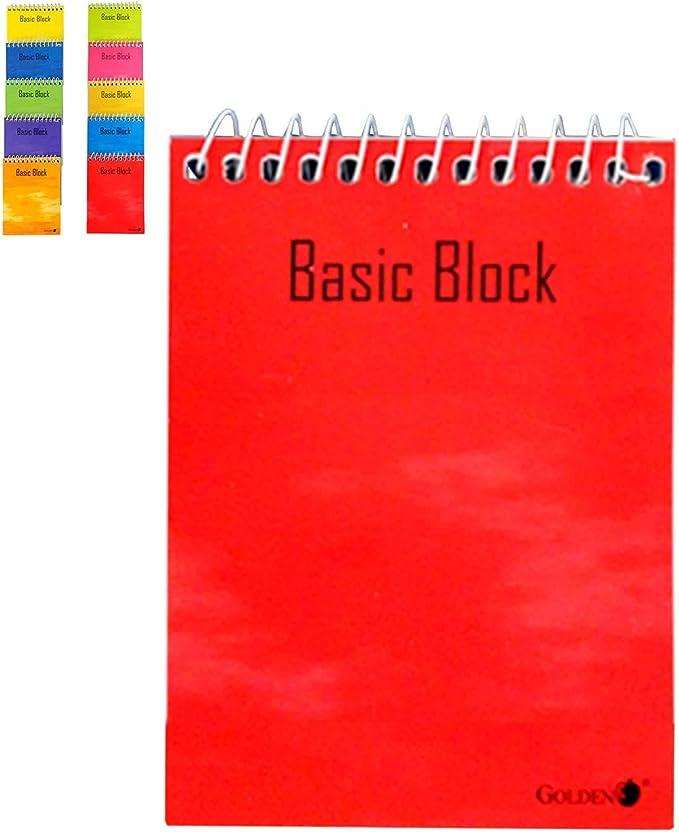 Pack de 5 Cuadernos cuadriculados 16º con Espiral Superior Color Surtido: Amazon.es: Electrónica