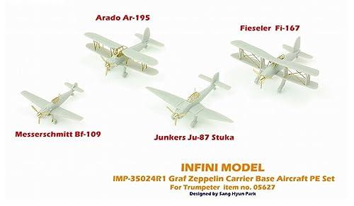 インフィニモデル 1/350 IMPシリーズ ドイツ海軍 空母 グラーフ・ツェッペリン艦上機用/TR社用 艦船用エッチングパーツ プラモデル用パーツ IMP3524