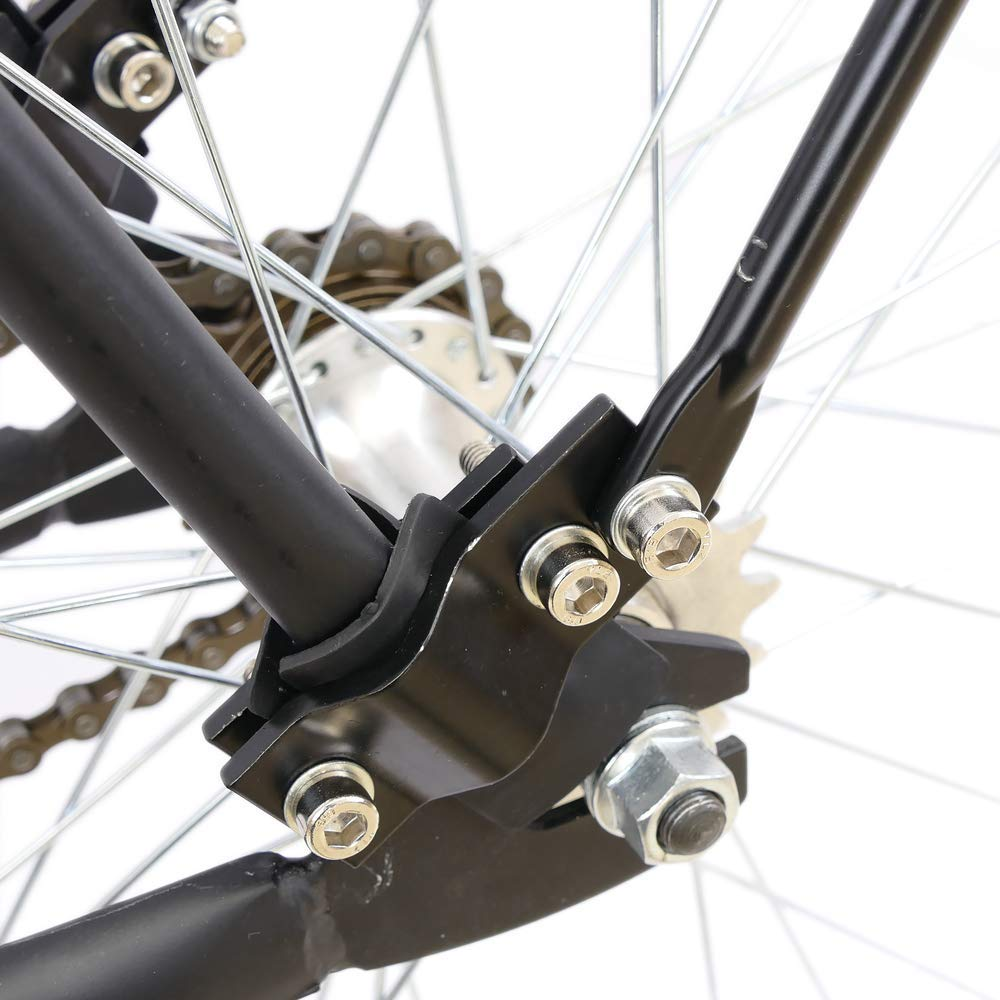 PrimeMatik Portaequipajes met/álico Trasero de Bicicleta con Palanca y Doble fijaci/ón 39x34cm