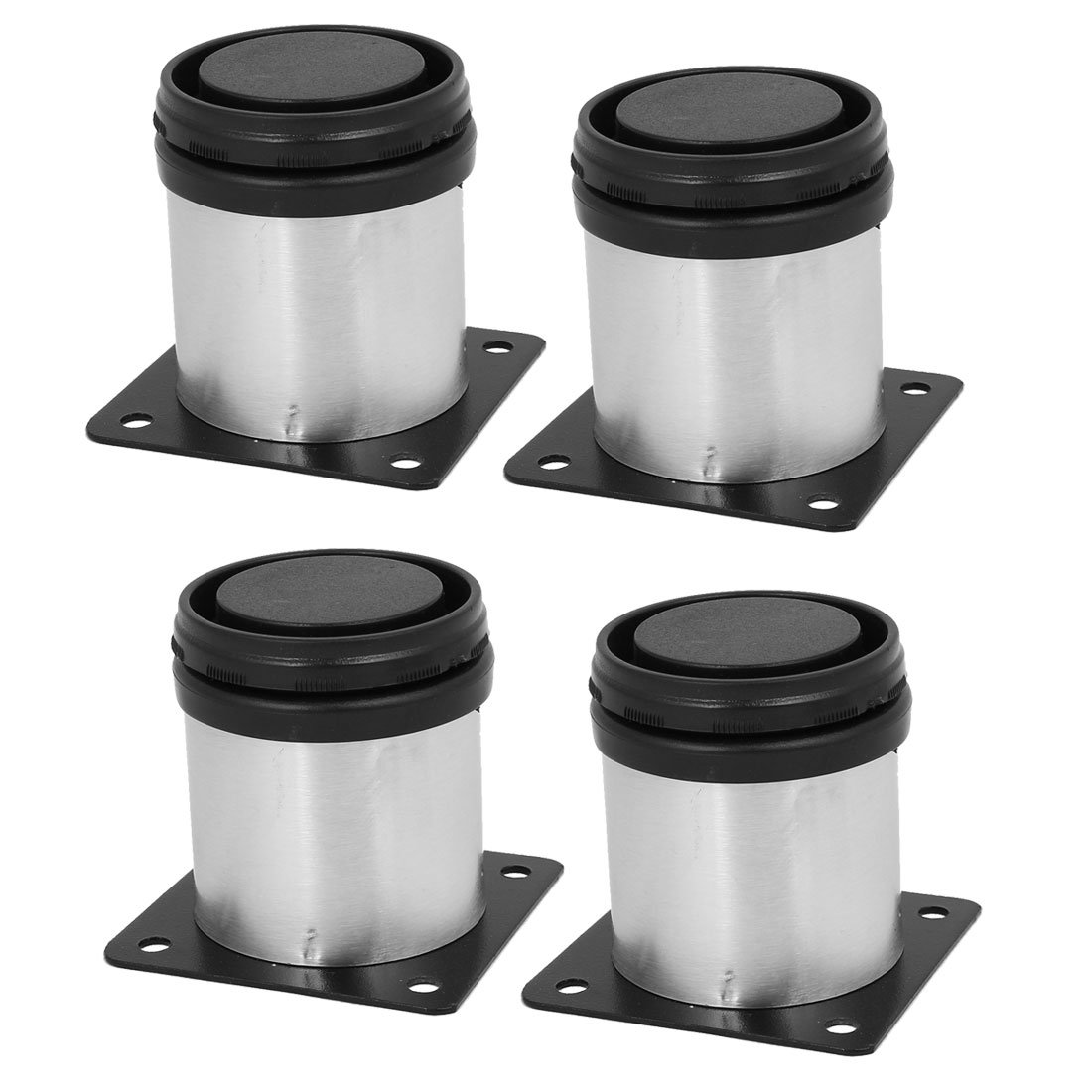 uxcell 50mm x 60mm Metal Adjustable Cabinet Sofa Feet Leg Round Stand 4PCS