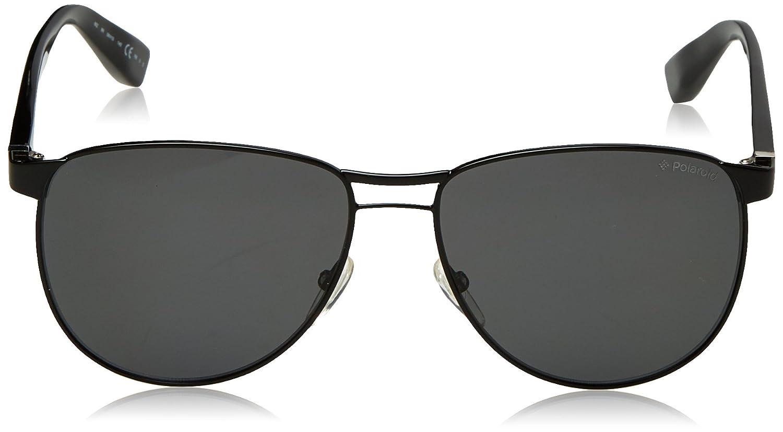 Amazon.com: Polaroid anteojos de sol PLP 0203 65Z/6 N Negro ...