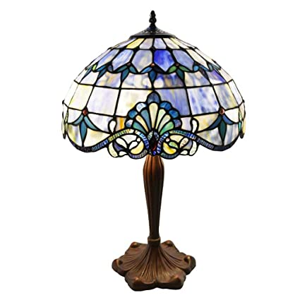 Amazon tiffany style stained glass table lamp 24 inch tiffany style stained glass table lamp 24 inch victorian style colorful allistar accent lamp with aloadofball Images