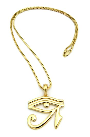 Egyptian eye of horus pendant various 24 chain necklace in gold egyptian eye of horus pendant various 24quot chain necklace in gold silver tone mozeypictures Image collections
