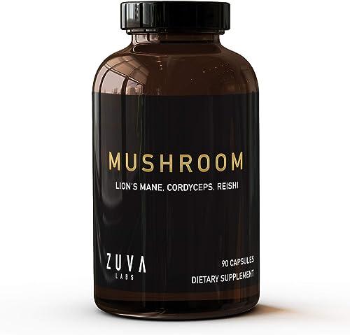 Lions Mane Mushroom Capsules. Premium Mushroom Supplement w 2000 mg Organic Lions Mane Mushroom Powder, Reishi Mushroom for Immunity Support Cordyceps Mushroom. Nootropic Mushroom Brain Supplement