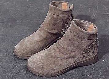 Xeb Botas Martin/ Botines Botas/Moda Invierno Zapatos Boots/ Martin Boots / Botines Botas de Nieve Para ...