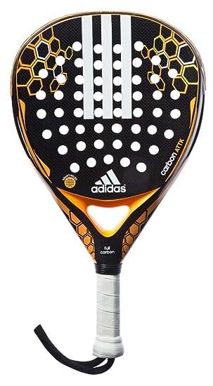 adidas Carbon Attk - Pala pádel Unisex, Color Negro/Naranja/Blanco, Talla única: Amazon.es: Deportes y aire libre