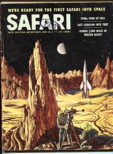 - Safari 4/1956-Rocket ship cover-space safari-Yama King of Hell-I rode death-VG