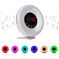 Radio reloj despertador digital FM con simulación