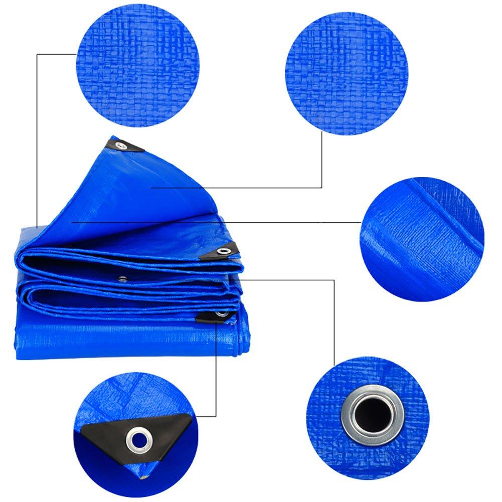 WDXJ Telo copertone copertone copertone Grande Telo Telo Impermeabile Tenda PE Rinforzata Tenda da Sole Tenda da Sole Tenda da Sole per Esterno -blu, 180G   M² (Dimensioni   3  4m) 5a8233