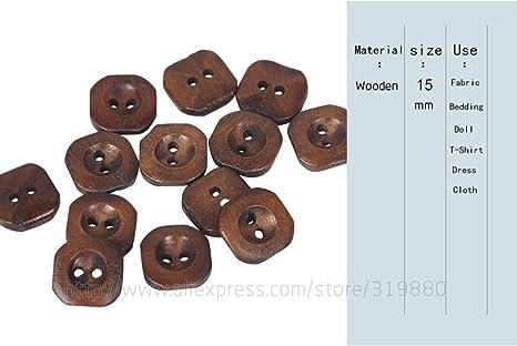 HDTTCX - Botones de madera para manualidades - Botones de madera ...