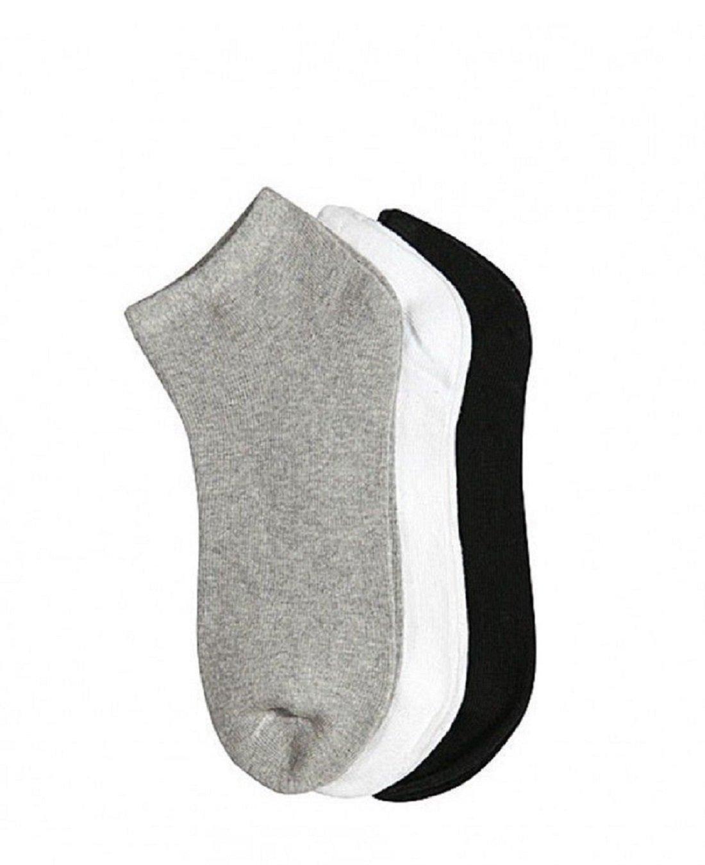 Women's Girl Black White Gray Package Ankle Quarter Low Cut Socks Wholesale Size 6-8 (24) by zr_dnm