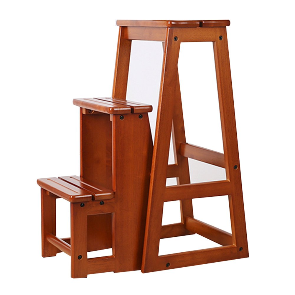 HAIPENG ラダー スツール 椅子 木製 折りたたみ可能 固体 木材 3ステップ 2サイズ 利用可能 二重使用 ユーティリティ 275x565x640mm ( サイズ さいず : 275x565x740mm ) B07BWGT42J  275x565x740mm