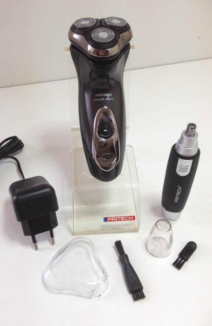 Duo afeitadora eléctrica (3 cabezales etanche + Depiladora nariz ...