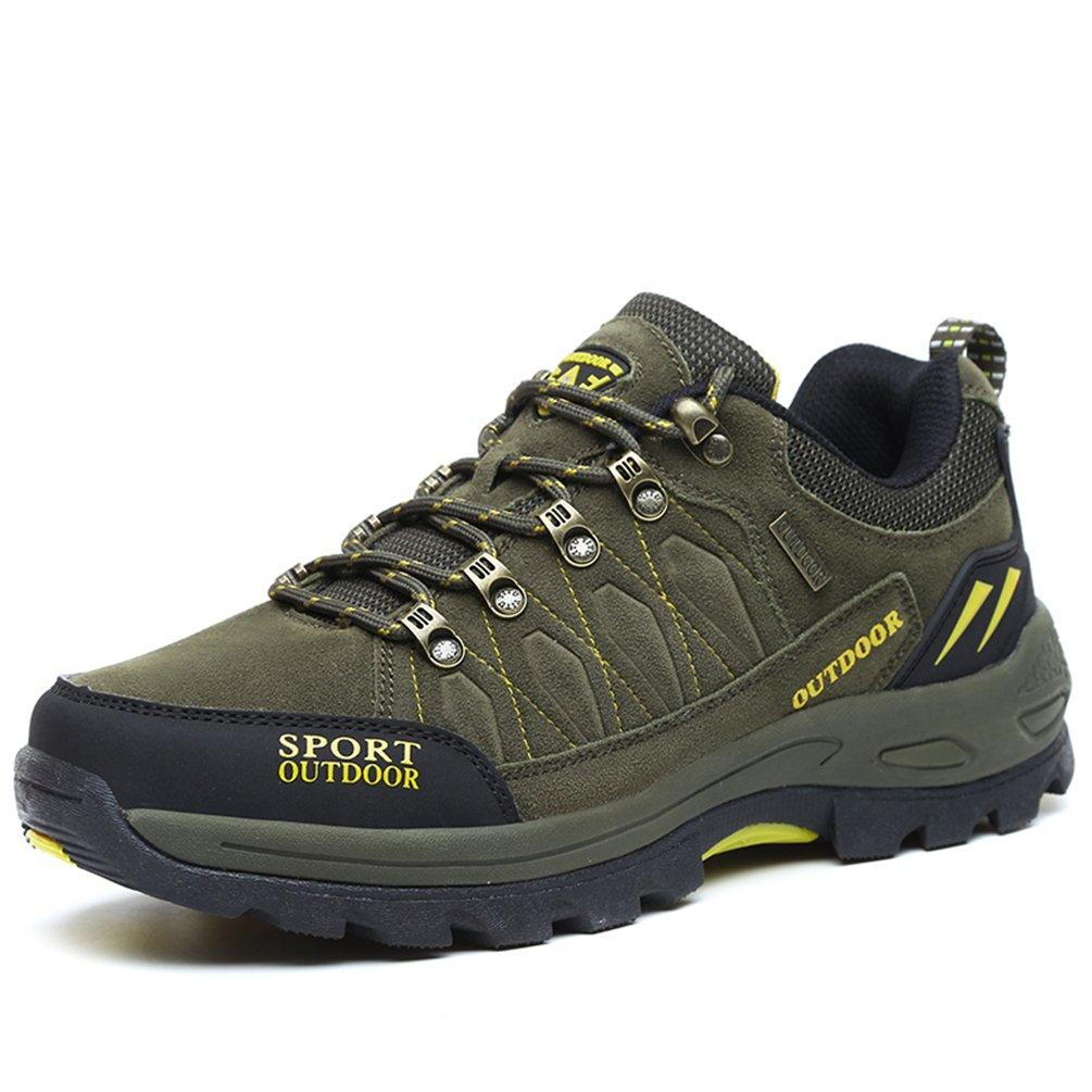 Rock Climbing Shoes Unisex Hiking Shoes Men Women Walking Sneaker Skid Proof Waterproof for Ourdoor Use-Green-41 EU