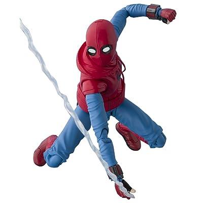 TAMASHII NATIONS Bandai S.H. Figuarts Spider-Man (Homemade Suit) & Optional Act Wall Set Action Figure: Bandai Tamashii Nations: Toys & Games
