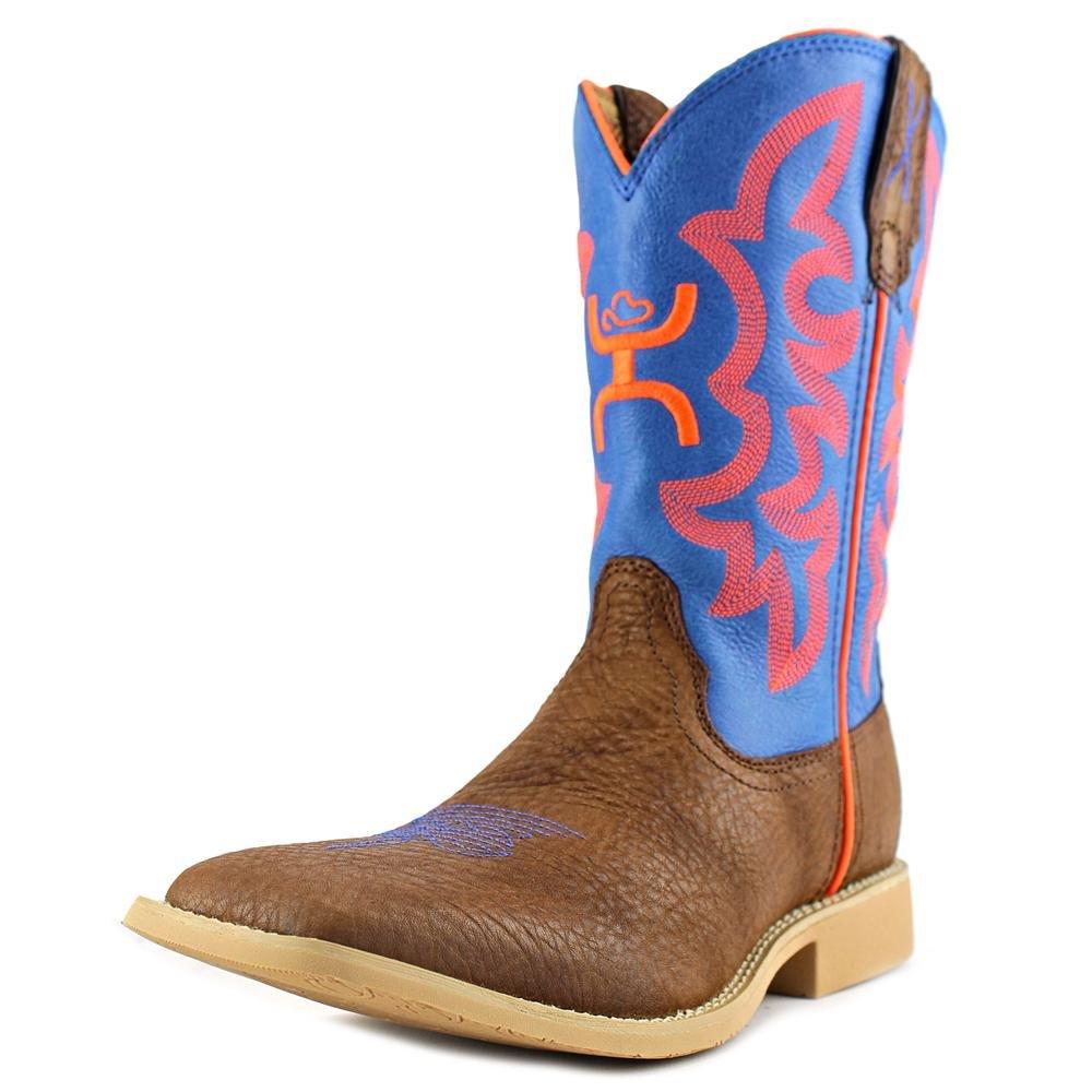 Twisted X YHY0001 Kid's Hooey Western Boots - Cognac/Neon Blue B00PKLPF36 2 D|Cognac Shoulder Neon Blue