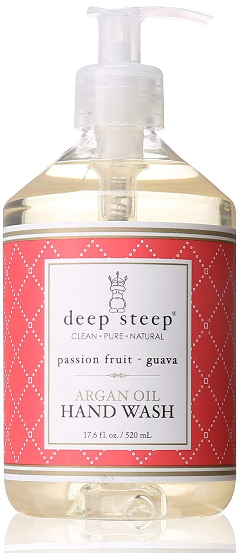 Deep Steep Argan Oil Liquid Hand Wash, Passion Fruit Guava, 17.6 Fluid Ounce