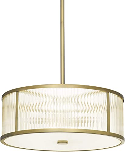 Glass Drum Pendant Ceiling Light